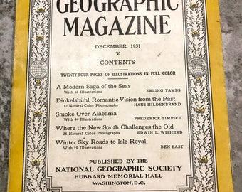 December 1931 National Geographic Magazine