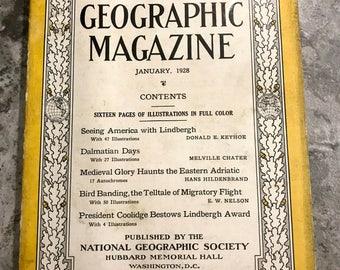 January 1928 National Geographic Magazine