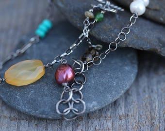 Necklace : Multi gemstone