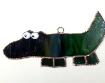 Stained Glass Alligator