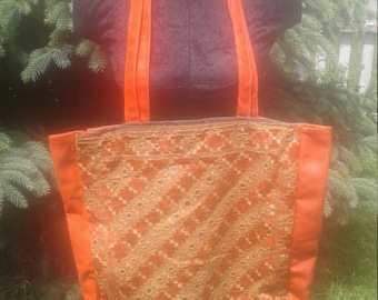 One of A Kind Mirror India Recycled Pillowcase Hippie Gypsy Market Shopping Tote Bag