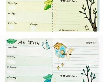 2017 2018 planner notepad - 2017 life planner 2017 planner / 2017 desk planner, 2017 weekly planner, 2018 weekly planner, cute planner