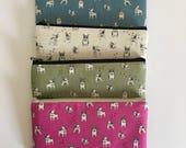 Flat  zipper pouch  - French bulldog (4 colours)
