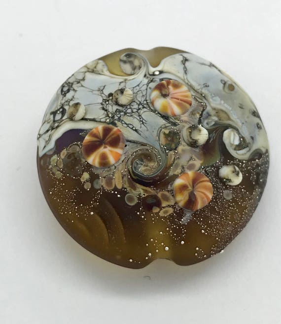 Lampwork Seaside Focal Bead Handmade SRA