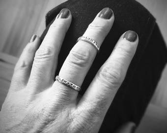 Metalsmith Stackable Band Ring - Sterling Silver