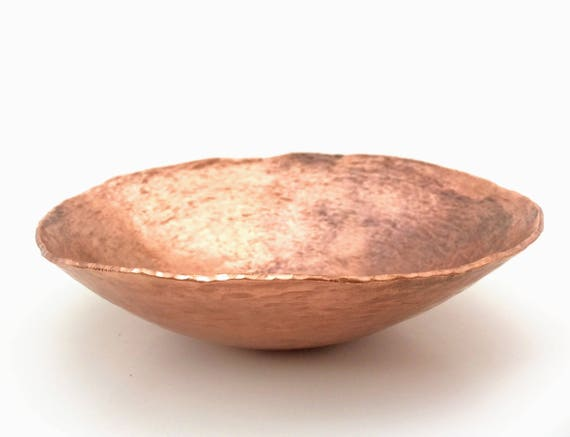 Handforged copper offering bowl ready for seeds, magic, incense, acorns, your nature table...