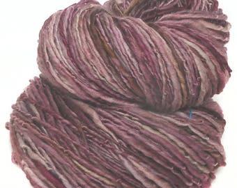 Handspun yarn  handdyed Falkland wool  singles yarn