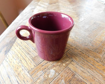 Vintage Fiesta-ware mug in the hard to find burgundy red