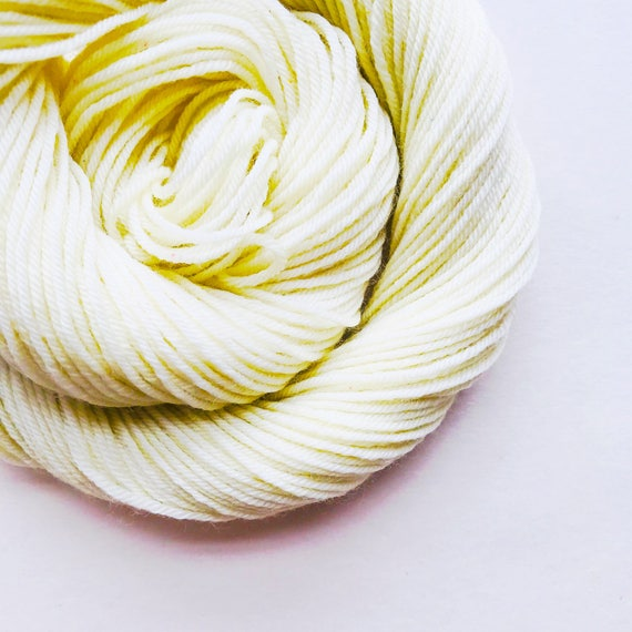 SAGE WHITE hand dyed yarn