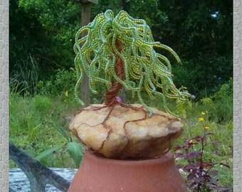 Wire Willow Tree Sculpture, Wire Bonsai, Wire Tree of Life  Sculpture, Handmade Wire  Bonsai Sculpture, Miniature Fairy Garden Tree