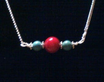 ON SALE Coral & Turquoise Necklaces,Coral Necklaces,Turquoise Necklaces