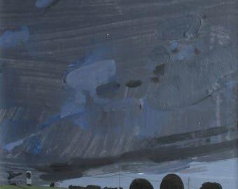 Garden HIll Climb, Original Summer Landscape Painting on Panel, Framed, Stooshinoff