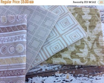 CRAZY SALE- Fat Quarter Bundle-Reclaimed Bed Linens -Neutral Bed Linens