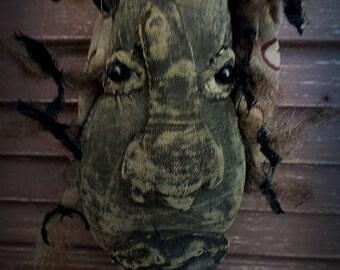 MUSTARD SEED ORIGINALS,  Folk Art, Makedo, Cloth, Rag  Doll by Sharon Stevens