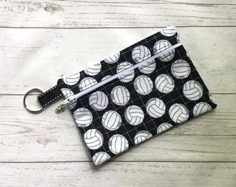 Volleyball Lover Cosmetic Bag - Volleyball Clutch Purse - Pencil Case - Volleyball Purse - Sport Make Up Bag - Volleyball Gift - Volleyball