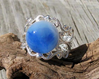Babydoll Blue and Silver Ring