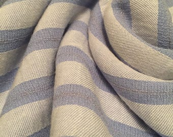 Rayon Linen  Crinkle Stripes  2-1/4  Yards