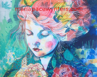 Summer Romance- Original painting by Maria Pace-wynters