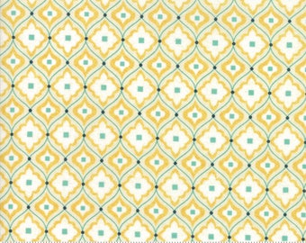 Biscuits and Gravy - Mend fences in Basket Yellow: sku 30487-14 cotton quilting fabric by BasicGrey for Moda Fabrics