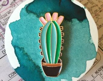 Blooming Cactus Pin Enamel - Free Shipping to US