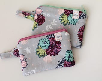 Maroon pouch, Minimalist pocket wallet, Change purse, cash wallet, mini zipper pouch, earbud case, gift card holder small bag, purple teal