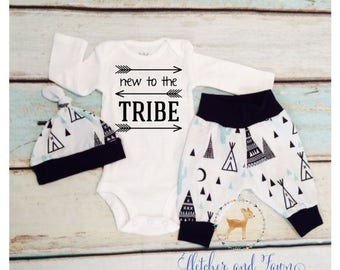 coming home outfit, baby boy, baby boy clothes, baby boy gift, baby shower gift, new to the tribe, baby boy outfit, take home outfit, baby