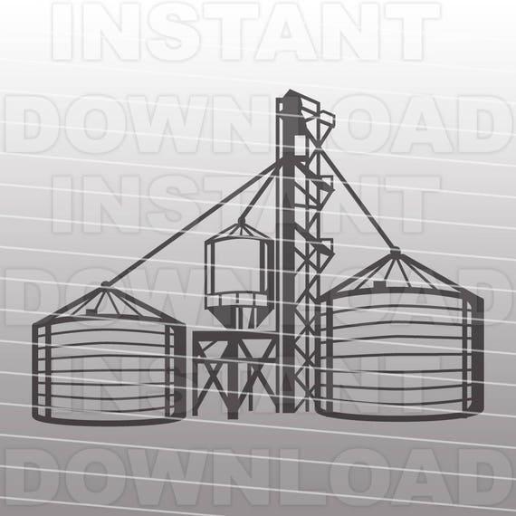 Grain Bin SVG FileFarming SVG FileGrain Elevator SVG