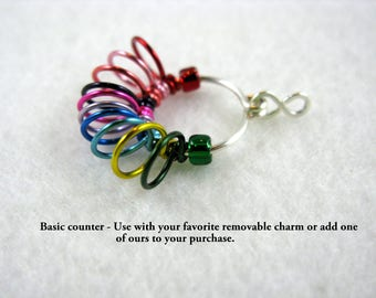 110 Rainbow Row Counter - Use Your Charm or Ours - Size US 10 or US 5 - Item No. 1045