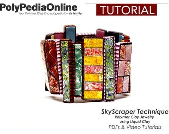 Polymer Clay Tutorial, Necklace tutorial, Bracelet Tutorial, Brooch, PDF Tutorial, Polymer Clay Beads, Jewelry Tutorial, DIY Handmade Bead