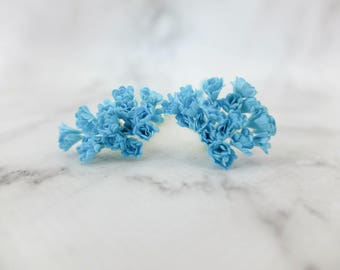 40 5mm blue mulberry paper gypsophila - paper baby's breath
