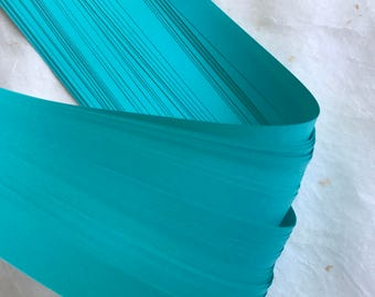 "1/2"" 5/8"" 3/4"" Weaving Star Paper ~Teal (50 strips)"
