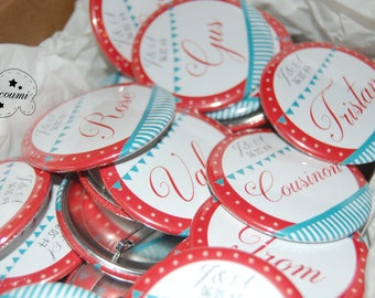 Badges / cadeau invité Mariage