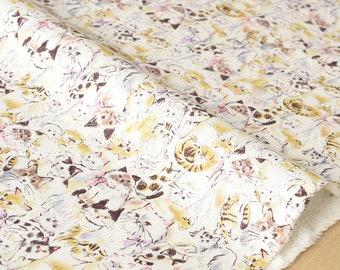 Japanese Fabric pretty cats - fat quarter