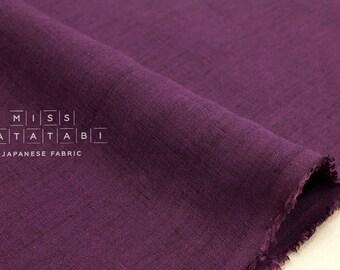 Japanese Fabric 100% linen - amethyst -  50cm