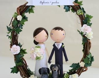 custom wedding cake topper - order for -TIFFANYGOLFO