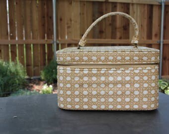 VINTAGE patterned train case