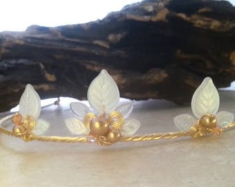 ON SALE Gold Frost Princess Tiara Circlet Crown in Custom Colors