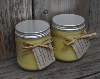 Lemon Verbena Scented Soy Wax Jar Candle