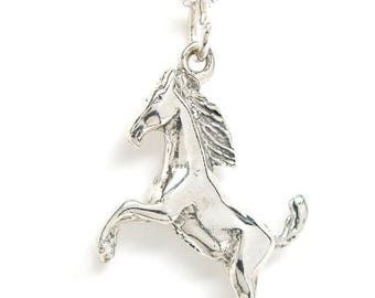 SALE Horse Stallion Sterling Silver Equestrian Charm Pendant no. 1811