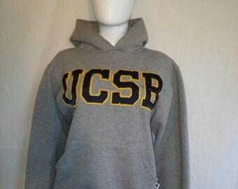 Closing shop SALE 40% off UCSB Sweatshirt, grey gray Sweatshirt college University California Santa Barbara