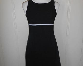 Vintage 90s  black  short dress, stretchy dresses, grunge, punk, size medium large   minimalist