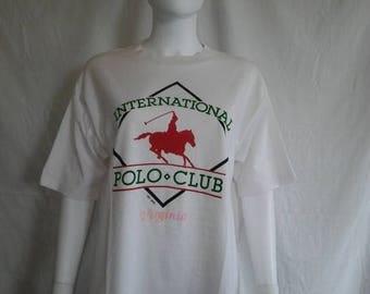 Closing Shop 40%off SALE International Polo Club t shirt, Virginia souvenir tourist t shirt