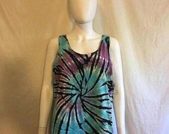 Closing Shop 40%off SALE Tie dye tank top t shirt, Vintage t shirt 80s 90s