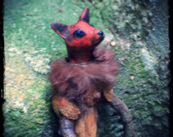 Little Fox Fetch Wildling Doll, Witchy Doll, Fox Poppet, Woodland Figure