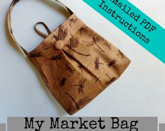 My Market Bag - -  Adjustable Strap Option - - Color Photos - - Emailed within 24 hours