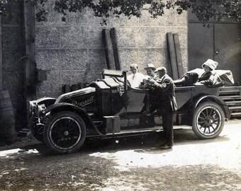1910 Convertible French Renault Touring Car San Francisco CA vintage photo
