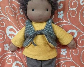 Waldorf-inspired doll bedhead boy