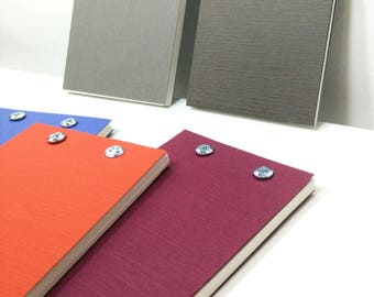 "On clearance - Assorted Screw Post Bound Blank 3.25"" x 5"" Sketchbook Notebook Notepad Steampunk Vow Book - Assorted Colors"