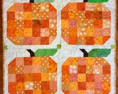 Pumpkin quilted wall hanging/table topper