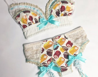 Gold Lace Snack Cake Bra - Pick Your Size - LIMITED EDITION - Handmade Vegan Bridal